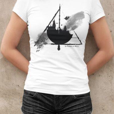 """Image de t-shirt blanc femme """"Harry Potter - Poudlard"""" - MCL Sérigraphie"""