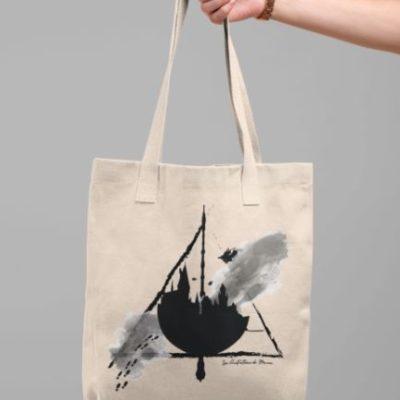 """Image de tote-bag """"Harry Potter - Poudlard"""" - MCL Sérigraphie"""