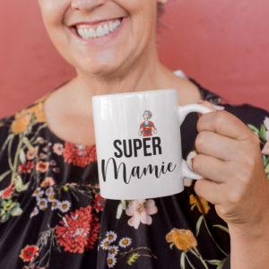 """Image de mug """"Super mamie"""" - MCL Sérigraphie"""