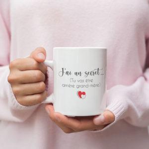 """Image de mug """"Tu vas être arrière grand mère""""-MCL Sérigraphie"""