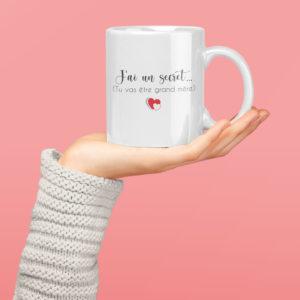 """Image de mug """"tu vas être grand-mère""""-MCL Sérigraphie"""