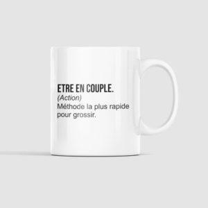"""Image mug """"définition être en couple"""" - MCL Sérigraphie"""