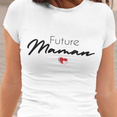 Image t-shirt blanc future maman - MCL Sérigraphie