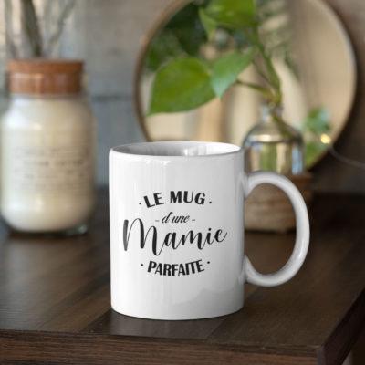 """Image de mug """"Le mug d'une mamie parfaite""""-MCL Sérigraphie"""