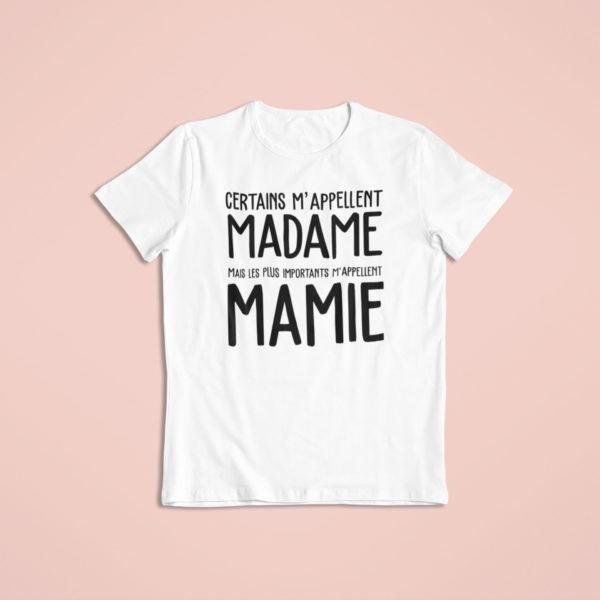 """Image de t-shirt blanc """"les meilleures m'appellent Mamie""""-MCL Sérigraphie"""