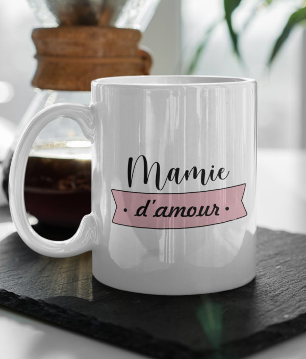 """Image de mug """"Mamie d'amour"""" - MCL Sérigraphie"""