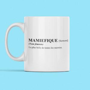 """Image de mug """"Mamiefique"""" - MCL Sérigraphie"""