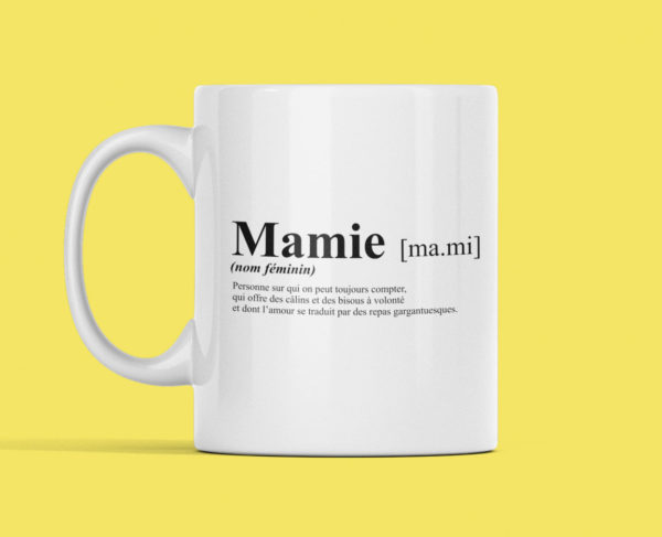 """Image de mug """"Définition mamie"""" l MCL Sérigraphie"""