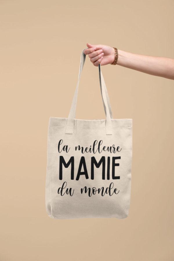"""Image de tote-bag""""La meilleure mamie du monde"""" - MCL Sérigraphie"""