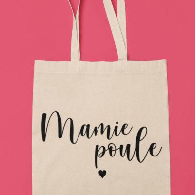 """Image de tote-bag """"Mamie Poule"""" - MCL Sérigraphie"""