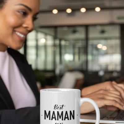"""Image de mug """"Best maman ever"""" - MCL Sérigraphie"""