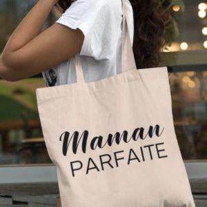 """Image de tote-bag """"Maman parfaite"""" - MCL Sérigraphie"""