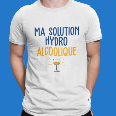 """Image de t-shirt homme """"Ma solution hydro alcoolique"""" - MCL Sérigraphie"""
