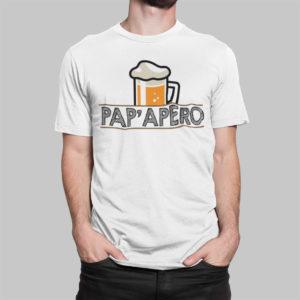 """Image de t-shirt blanc homme """"Pap'apéro"""" - MCL Sérigraphie"""
