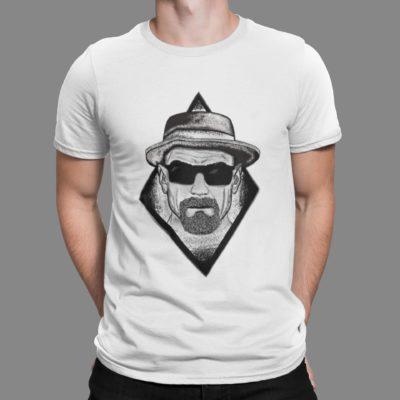 """Image de t-shirt blanc homme """"Heinseberg"""" - MCL Sérigraphie"""