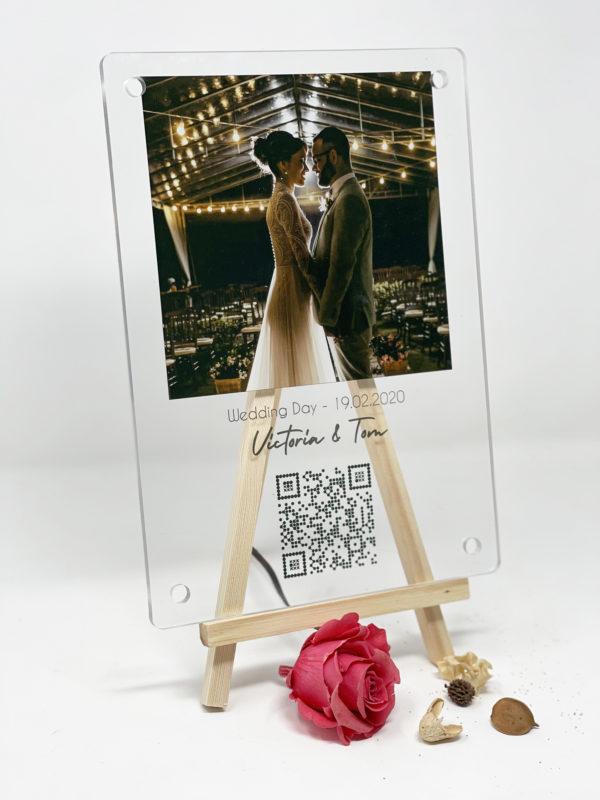 Image de plaque interactive personnalisée QR COde - MCL Sérigraphie