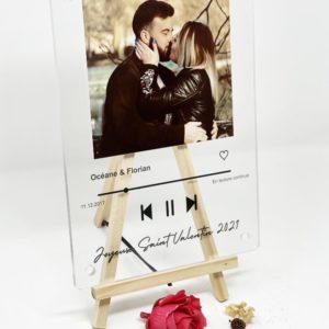 """Image de plaque """"playlist de notre amour"""" personnalisée - MCL Sérigraphie"""