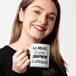 """Image de mug """"Le mug d'une super collègue""""-MCL Sérigraphie"""