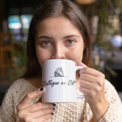 """Image de mug """"Collègue en or""""-MCL Sérigraphie"""
