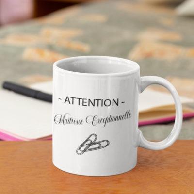 """Image de mug """"Maîtresse Exceptionnelle""""-MCL Sérigraphie"""