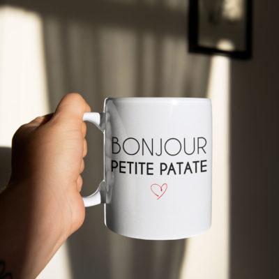 """Image de mug """"Bonjour petite patate"""" - MCL Sérigraphie"""