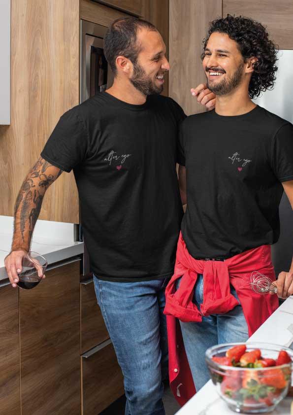 "Image de t-shirt noir ""Alter ego""-MCL Sérigraphie"