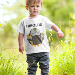 """T-shirt enfant """"Hiboude""""- MCL Sérigraphie"""