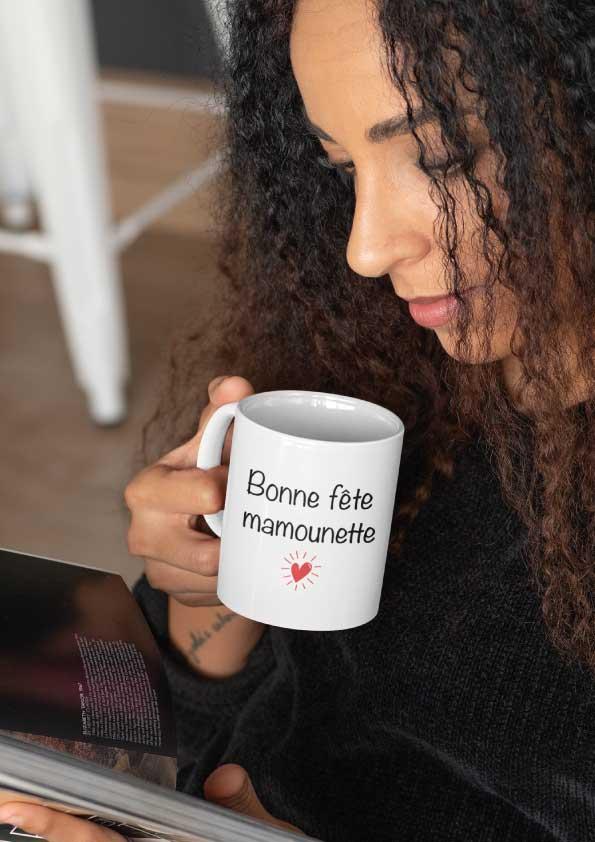 """Image de mug """"Bonne fête mamounette""""-MCL Sérigraphie"""