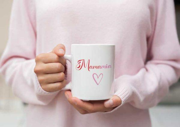"""Image de mug """"Mamamia""""-MCL Sérigraphie"""