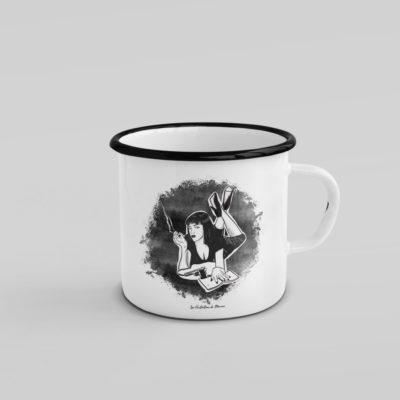 Mug émaillé - Mia - Pulp Fiction - MCL Sérigraphie