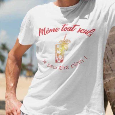 """Image de t-shirt """"Même tout seul, je peux être plein !""""-MCL Sérigraphie"""