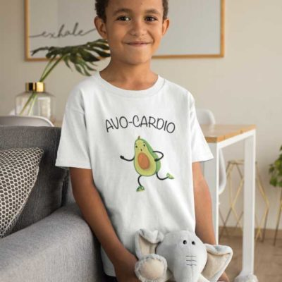 "Image de t-shirt blanc ""AVO-CARDIO""-MCL Sérigraphie"