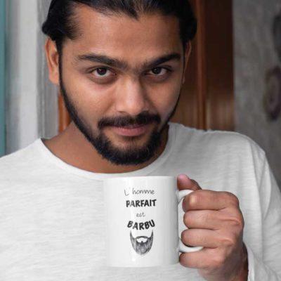 """Image de mug """"L'homme parfait est barbu""""-MCL Sérigraphie"""