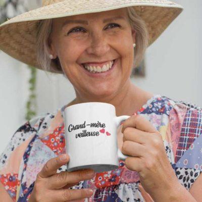 """Image de mug """"Grand-mère veilleuse""""-MCL Sérigraphie"""